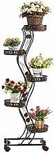 Stand De Plante Étagère De Fleur Le Fer Escalier