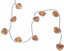 Star 726-81 Guirlande Lumineuse Net Hearts, 10 w/w