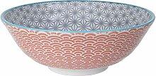 Star Wave Bol à nouilles en porcelaine asiatique
