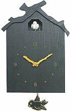 Starall Horloge murale à coucou en bois moderne