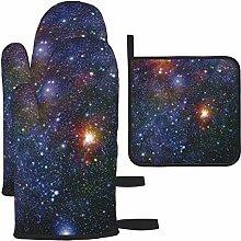 Stars Galaxies Gants de cuisine antidérapants