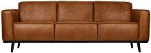 STATEMENT - Canapé 3 places en cuir marron L230