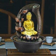 Statue de bouddha, fontaine d'eau décorative