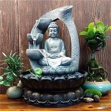 Statue de bouddha Lotus Zen en résine à Led,