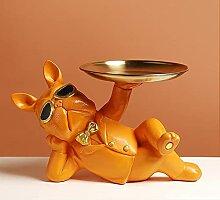 Statue de Bulldog française, Figurine de Chien,