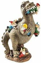 Statue de nain mangeant un dinosaure,Trompette de