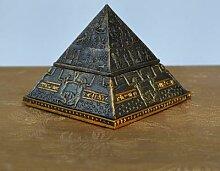 Statue de pyramide égyptienne en métal, figurine