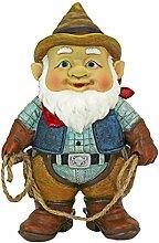 Statue nain de jardin - Cowboy Klaus, le nain de