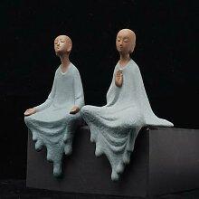 Statues de bouddha en céramique, petite théière