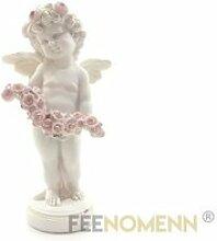 Statuette Ange Fleurs (H24 x L12cm)OBJET DECORATIF