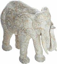 Statuette en Résine Éléphant 22cm Beige