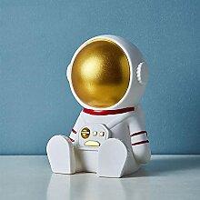 Statuetteastronaute Spaceman Tirelire Net Rouge