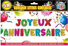 STC Guirlande Gonflable Anniversaire 4 m