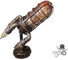 Steampunk Rocket Lamp,Retro Rocket ship Lamp