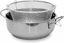 steel pan Friteuse INOX avec Panier 30 cm
