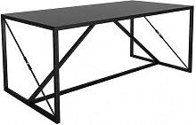 STEEL - Table/bureau acier noir