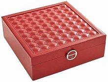 Stella Maris Boîte de rangement rouge pour bijoux