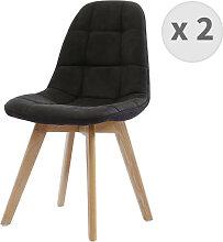STELLA OAK - Chaise scandinave microfibre vintage