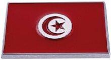 Sticker 3D - Drapeau Tunisie - 70x50mm