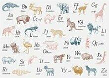 Sticker animaux alphabet 50x70 cm