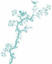 Sticker Bird Branch - Domestic bleu en matière