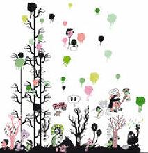 Sticker Gelati woods - Domestic multicolore en
