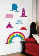 Sticker Meriwinkles - Domestic multicolore en