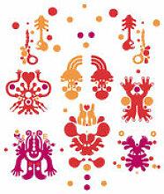 Sticker Monster Forest Red - Domestic rouge en