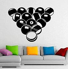 Sticker mural 42x58cm Billard Table Tennis Tennis