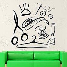 Sticker mural femme tailleur couture Studio