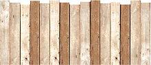 Sticker mural tête de lit planches de bois