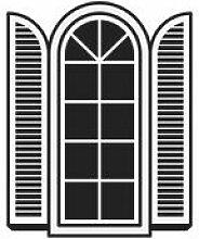 Sticker Open a window - Domestic noir en matière