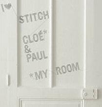 Sticker Stitch - Domestic gris en matière