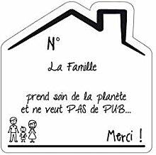 Sticker Stop Pub Famille Fond Blanc - 1 Garcon