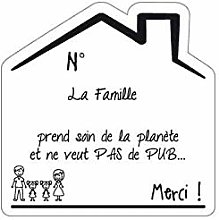 Sticker Stop Pub Famille Fond Blanc - 2 Filles