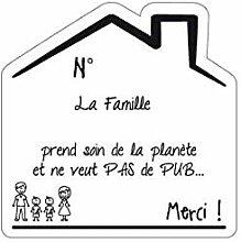 Sticker Stop Pub Famille Fond Blanc - 2 Garcons