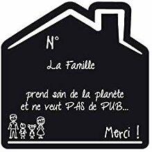 Sticker Stop Pub Famille Fond noir - 1 Garcon / 1