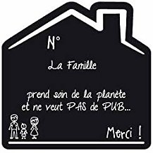 Sticker Stop Pub Famille Fond noir - 1 Garcon
