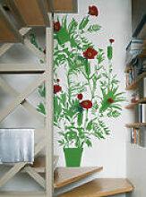 Sticker Vynil + Flower - Domestic vert en matière