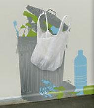 Sticker Vynil+plastic bags - Domestic gris en
