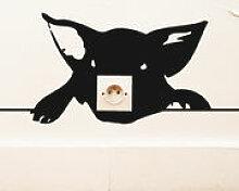 Sticker Zoo Cochon - Domestic noir en matière