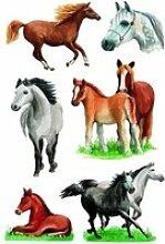 Stickers - chevaux - loisirs créatifs