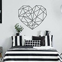 Stickers muraux amour géométrique chambre salon