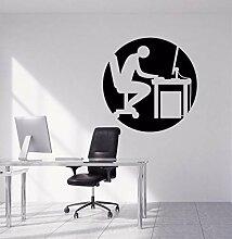 Stickers Muraux Amovibles De Bureau Silhouettes De