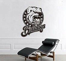 Stickers Muraux Applique Bulldog Créatif Creux