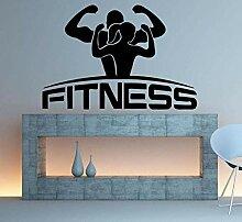 Stickers Muraux Applique Fitness Sport Art Chambre