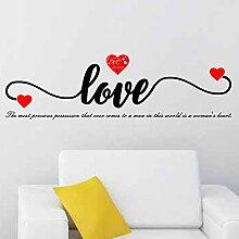 Stickers muraux auto-adhésif anglais amour amour