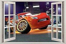 Stickers Muraux Cars Movie Autocollants Mural 3D