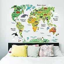 Stickers Muraux Carte du Monde De Dessin Animé