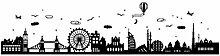 Stickers muraux Carte du monde DIY Style européen